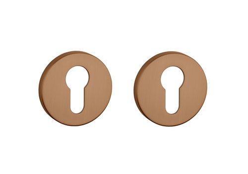 Cylinder plates round matt Copper Ø 52x7mm