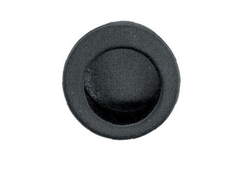Zwarte inkapschelp vingertop