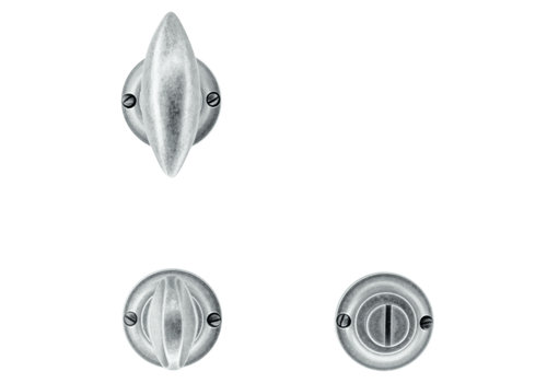 Door handles Olina old silver with WC