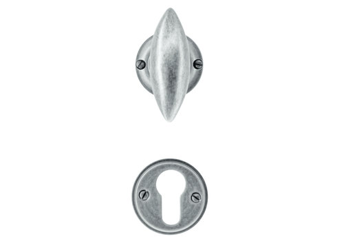 Door handles Olina old silver with PZ