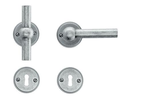 Old silver door handles Petana T+L with BB