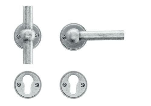 Old silver door handles Petana T+L with PZ