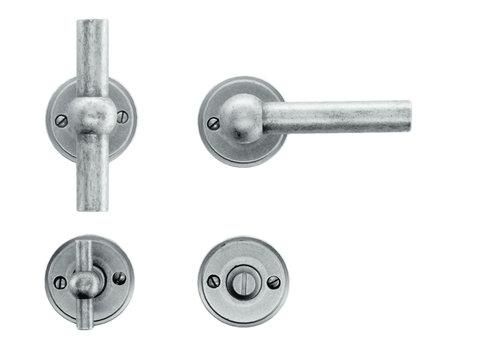 Old silver door handles Petana T+L with WC