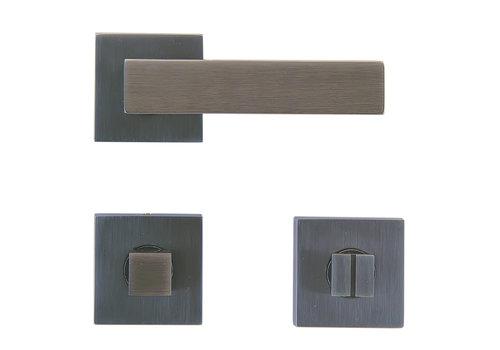 Anthracite gray door handles Cubica with WC
