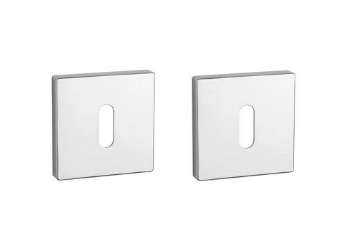 Key plates square Chrome polished 5mm