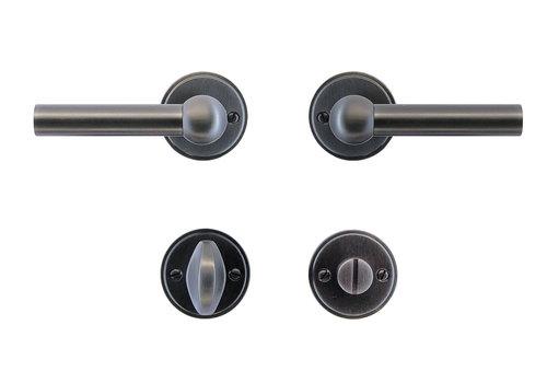 Anthracite gray door handles Petana L+L with WC