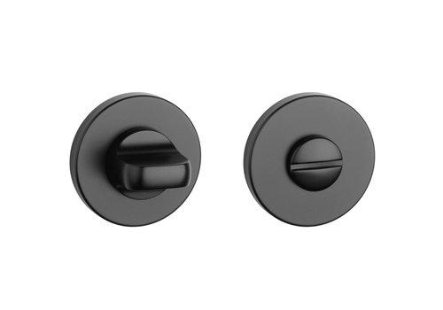 Black WC set round Ø 52x5mm