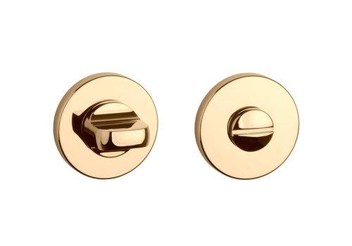 WC set Gold polished round Ø 52x5mm