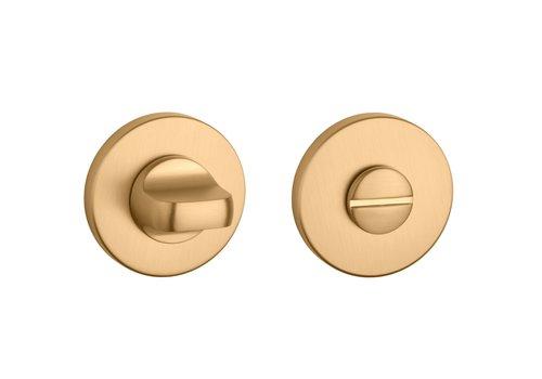 Toilet set matt Gold round Ø 52x5mm