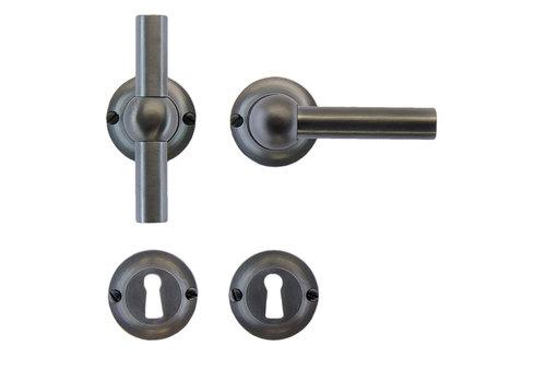 Anthracite gray door handles Petra T+L with BB
