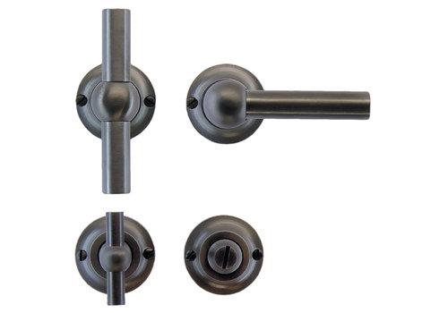 Anthracite gray door handles Petra T+L with WC