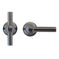 Anthracite gray door handles Petra T+L without key plates