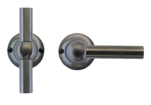 Anthracite gray door handles Petra T+L without BB