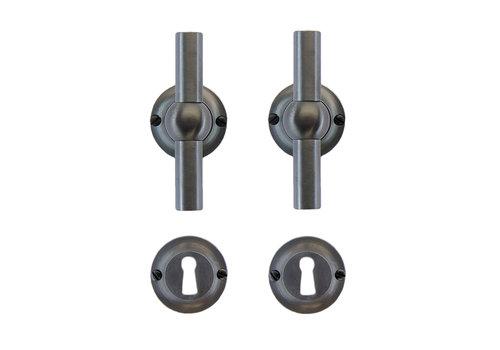 Anthracite gray door handles Petra T+T with BB