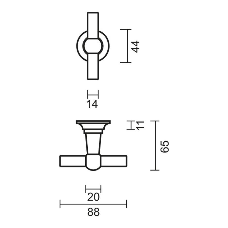 Anthracite gray door handles Petra T+T with toilet set