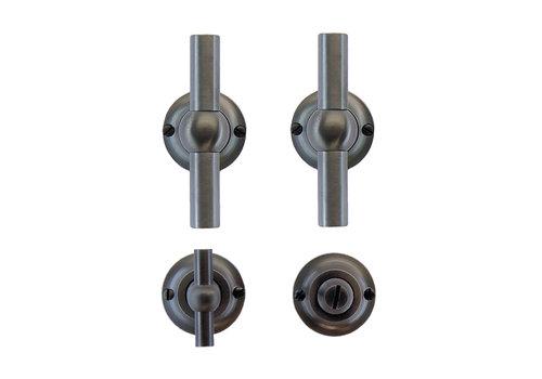 Anthracite gray door handles Petra T+T with WC