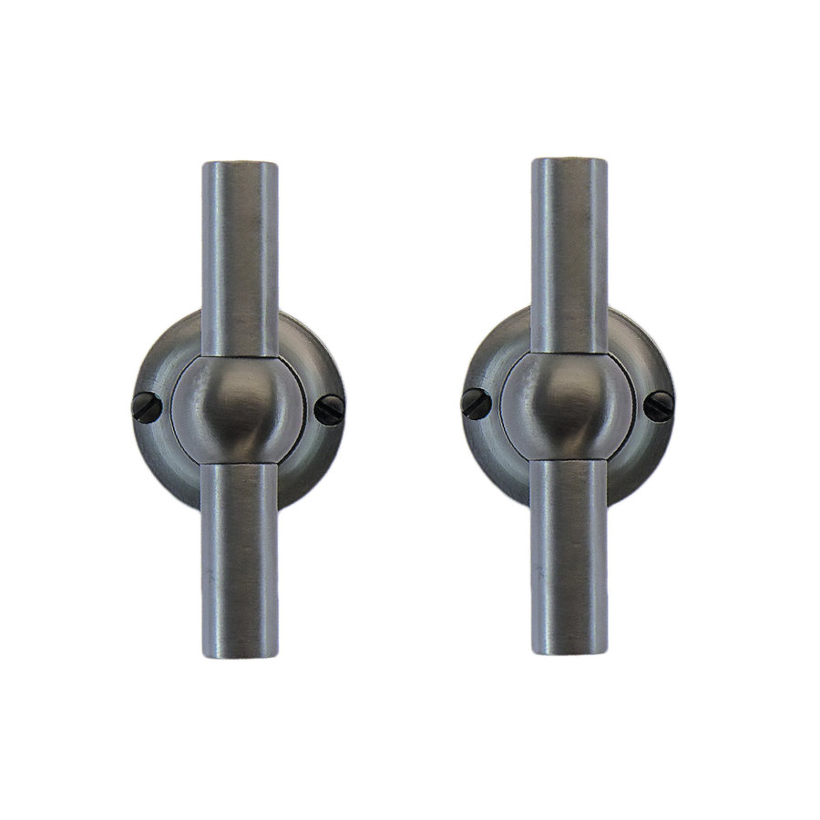 Anthracite gray door handles Petra T+T without key plates