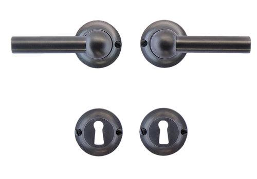 Anthracite gray door handles Petra L+L with BB