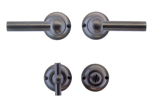 Anthracite gray door handles Petra L+L with WC