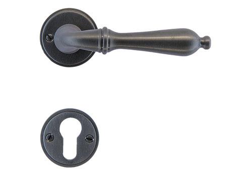 Anthracite gray door handles Da Vinci with PZ