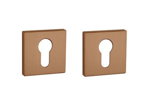 Cylinder plates square matt Copper 5mm
