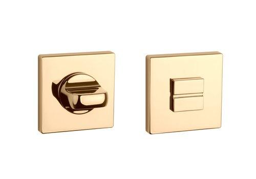WC set square Gold polished 5mm