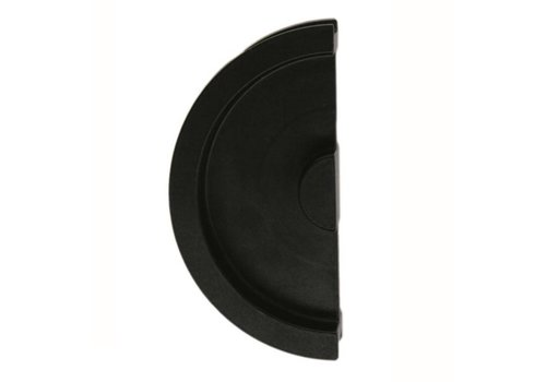Sliding door bowl half moon solid 43mm black per piece