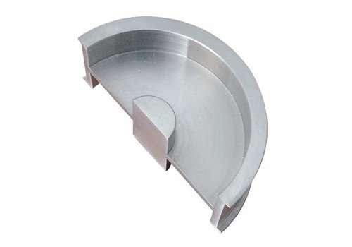 Schiebetürschüssel halbmond aus massivem Edelstahl 38 mm