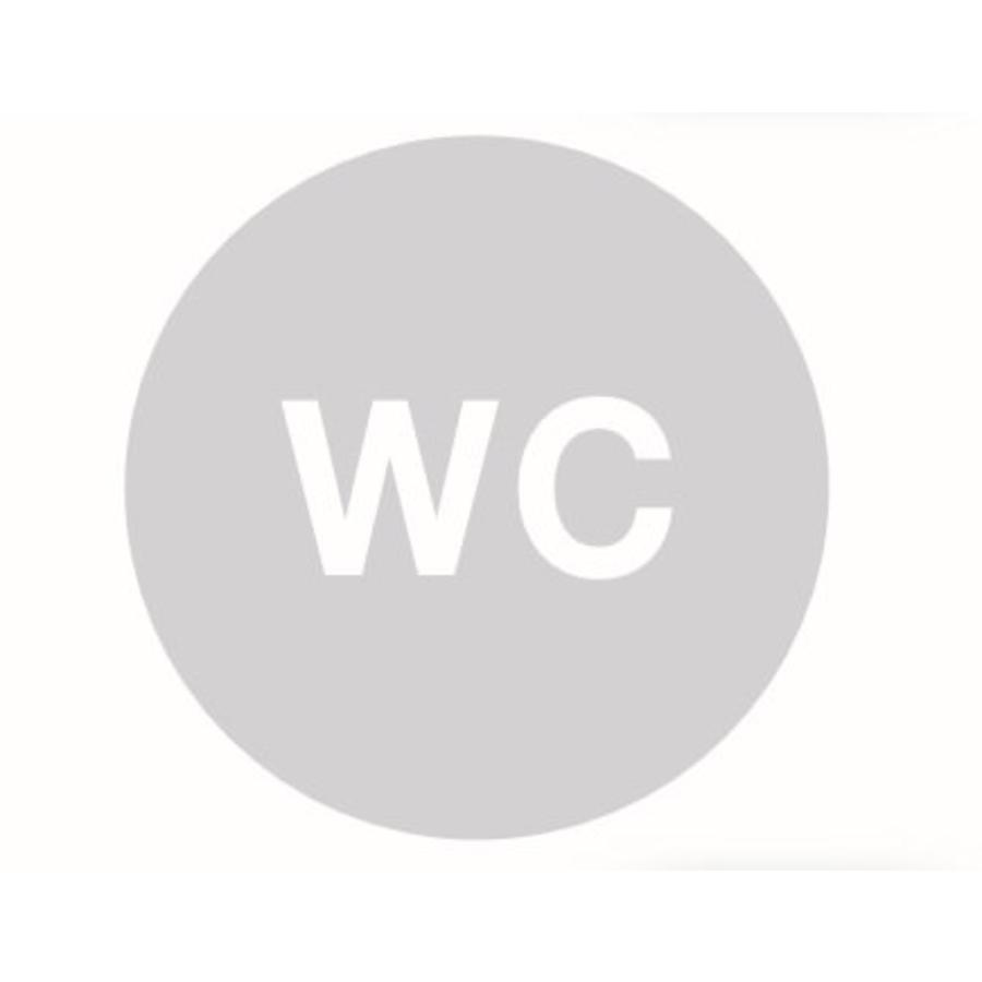 GLAS ROND PICTO WOORD WC 198MM DIKTE 4MM
