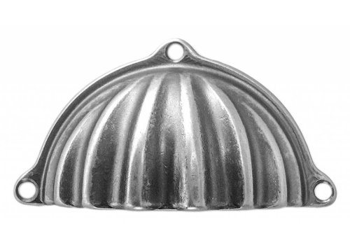 Cupboard puller shell retro Old Silver