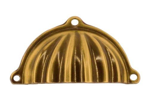 Cupboard puller shell retro bronze
