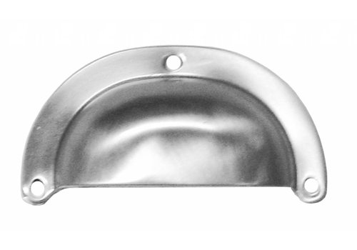 FURNITURE HANDLE SHELL MODERN STAINLESS STEEL LOOK