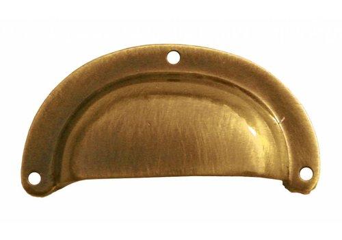 Cupboard puller Shell modern bronze