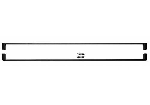 DOOR HANDLES COSMIC 1000MM BLACK PAIR FOR GLASS