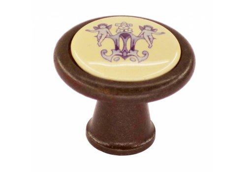 Möbelknopf Dekor 35mm Rost