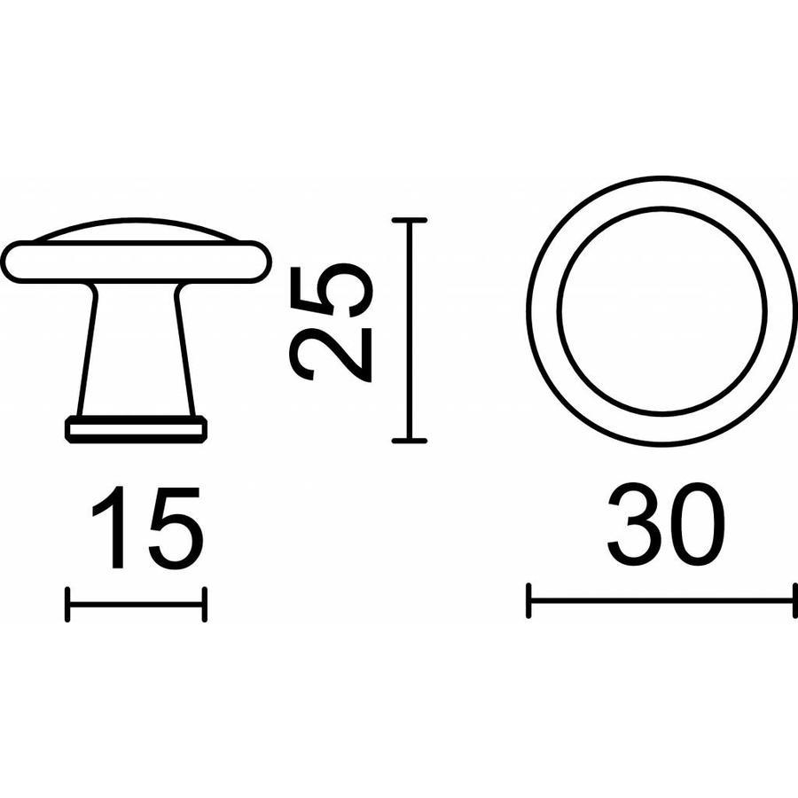 Meubelknop Decor 30mm roest