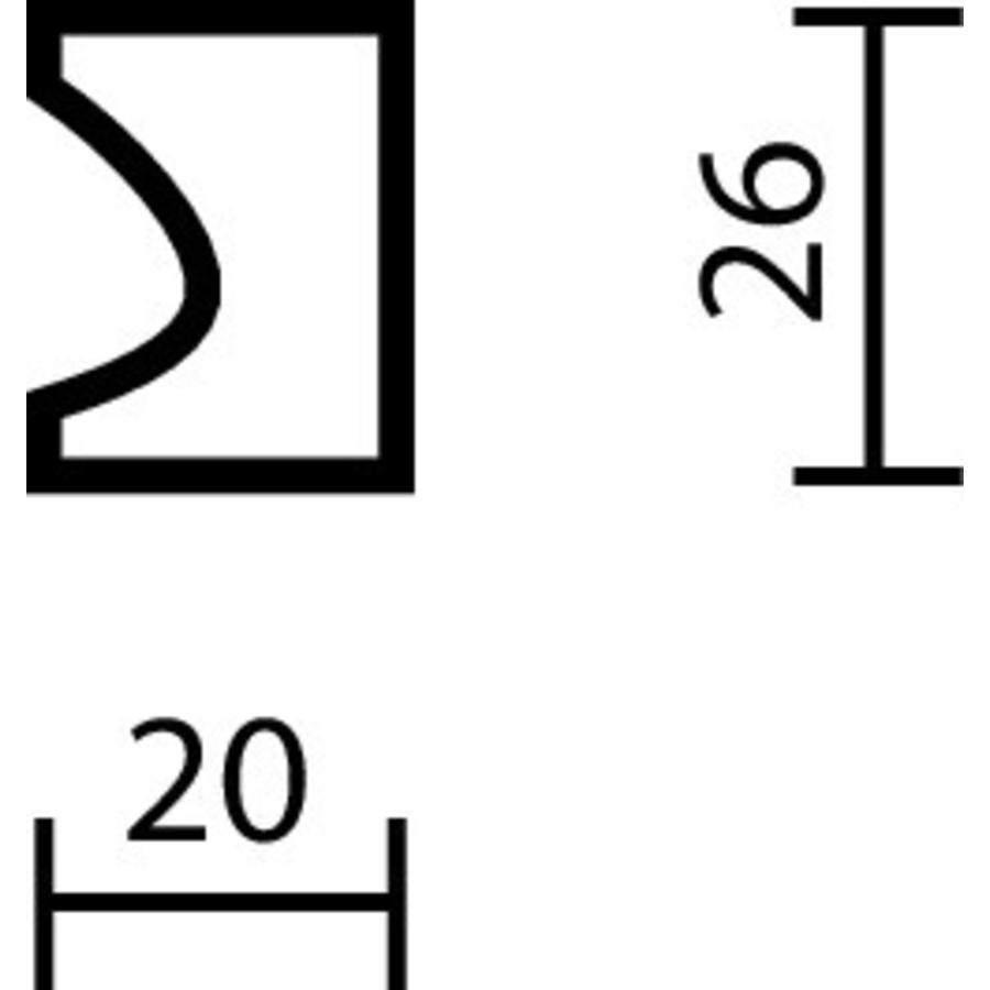 MEUBELKNOP D20 INOX PLUS