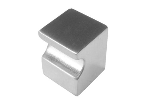 FURNITURE KNOB CUBICA TOP STAINLESS STEEL