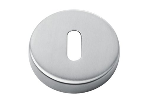 PAIR OF KEY PLATES ROUND STAINLESS STEEL
