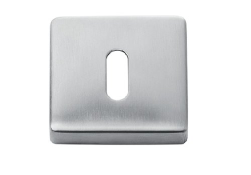 PAIR OF KEYPLATES STAINLESS STEEL SQUARE