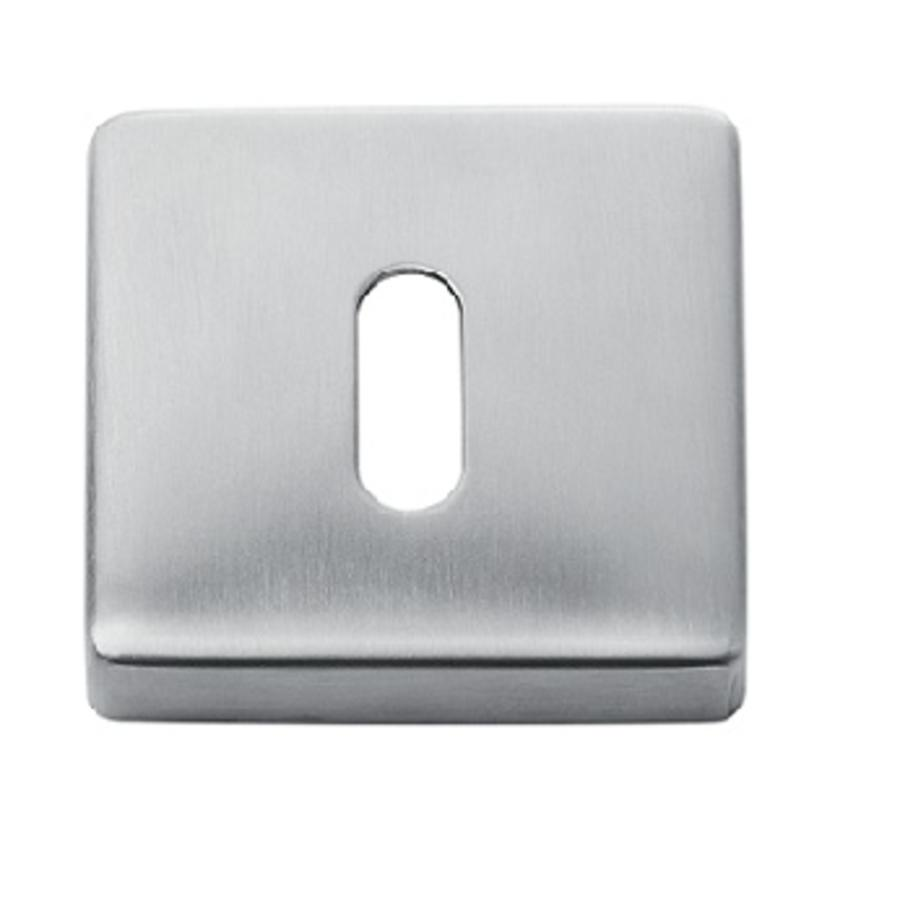 Paar sleutelplaatjes vierkant RVS