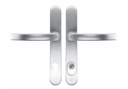 Garniture de sécurité HDD Poignée+Poignée safe alu axe 92 mm