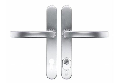 Garniture de sécurité HDD Poignée+Poignée safe alu axe 72 mm