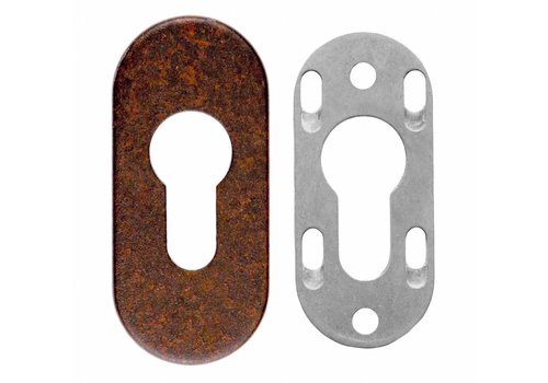 ENTREE CYLINDRE DE SECURITE OVALE ROUILLE 6MM
