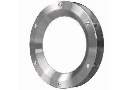 Inox patrijspoort B1000 450 mm + doorzichtig veiligheidsglas