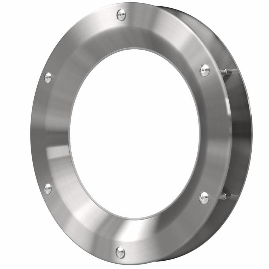 RVS patrijspoort B1000 350 mm + doorzichtig veiligheidsglas