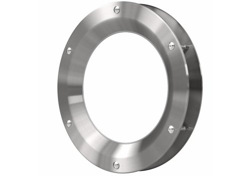 Inox patrijspoort B1000 250 mm + doorzichtig veiligheidsglas