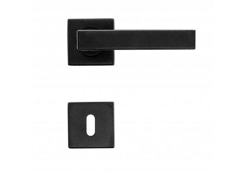 Poignées de porte Cosmic noires avec plaques à clés