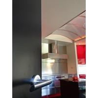 RVS deurklinken Ellips met wc garnituur