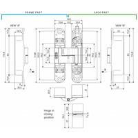 ONZICHTBAAR 3D SCHARNIER AGB ECLIPSE 3 ZWART